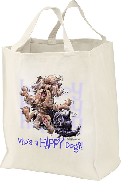 Yorkshire Terrier - Who's A Happy Dog - Tote Bag