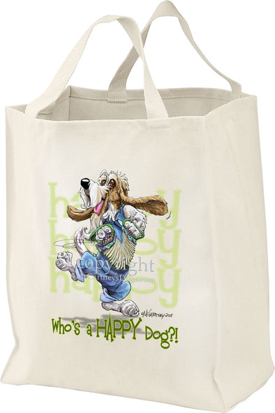 Petit Basset Griffon Vendeen - Who's A Happy Dog - Tote Bag