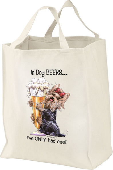 Yorkshire Terrier - Dog Beers - Tote Bag
