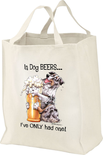 Australian Shepherd  Blue Merl - Dog Beers - Tote Bag
