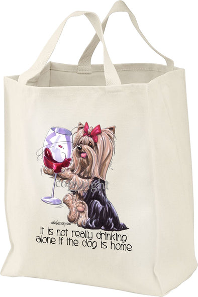 Yorkshire Terrier - It's Not Drinking Alone - Tote Bag