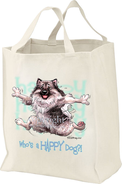 Keeshond - Who's A Happy Dog - Tote Bag