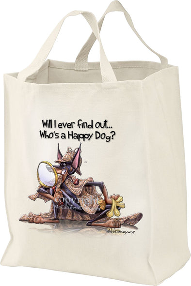 Doberman Pinscher - 2 - Who's A Happy Dog - Tote Bag