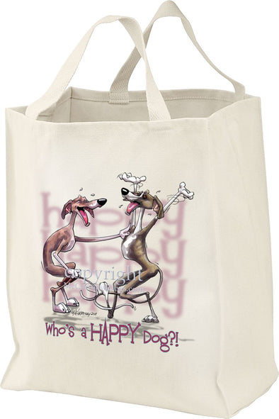 Italian Greyhound - Who's A Happy Dog - Tote Bag