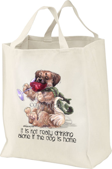Tibetan Spaniel - It's Not Drinking Alone - Tote Bag