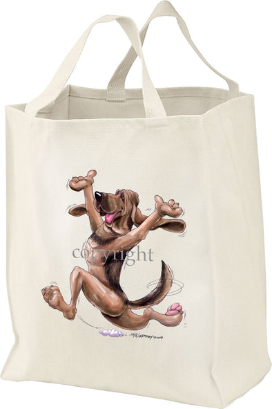 Bloodhound - Happy Dog - Tote Bag