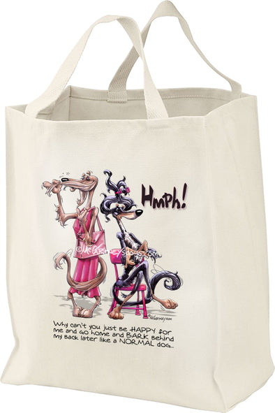 Saluki - Hmpf Be Happy - Mike's Faves - Tote Bag