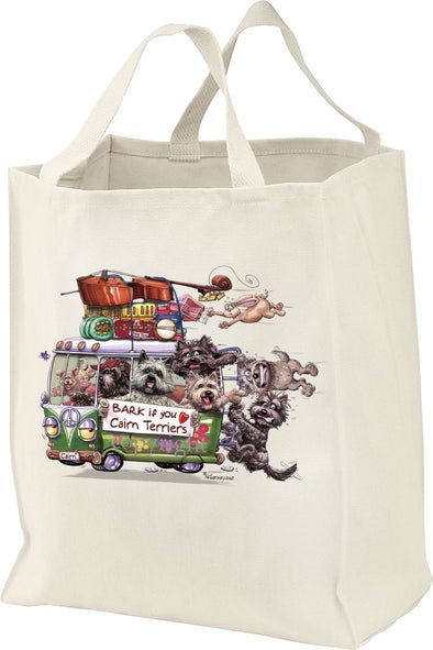 Cairn Terrier - Bark If You Love Dogs - Tote Bag