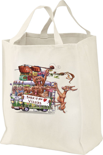 Vizsla - Bark If You Love Dogs - Tote Bag