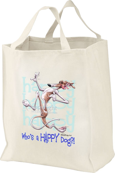 Greyhound - Who's A Happy Dog - Tote Bag