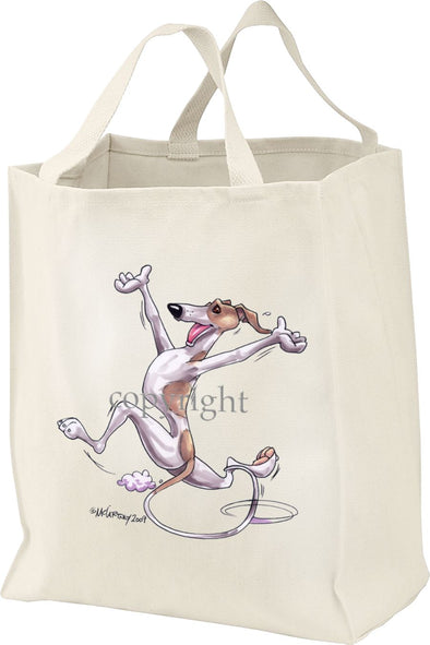 Whippet - Happy Dog - Tote Bag