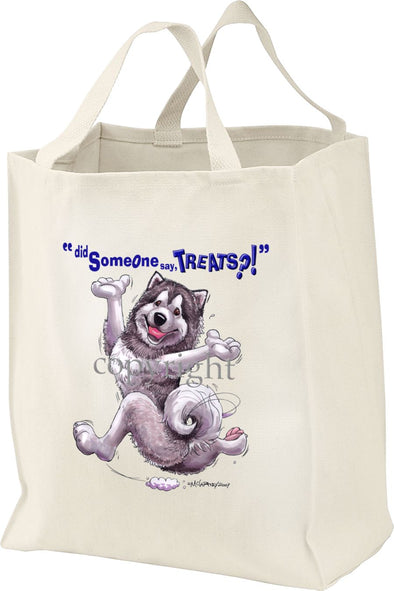 Alaskan Malamute - Treats - Tote Bag