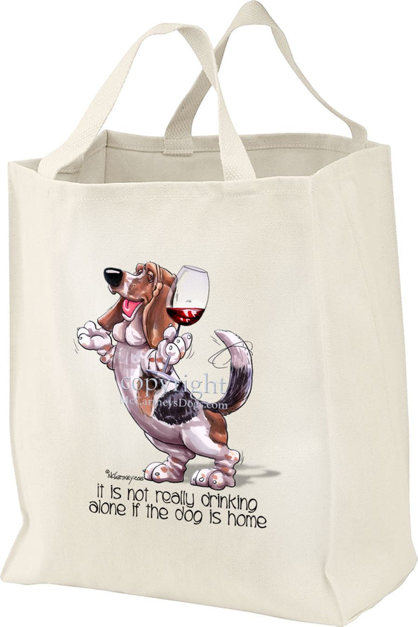Basset Hound - It's Not Drinking Alone - Tote Bag