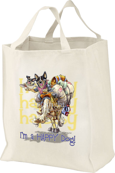Australian Cattle Dog - 2 - Who's A Happy Dog - Tote Bag