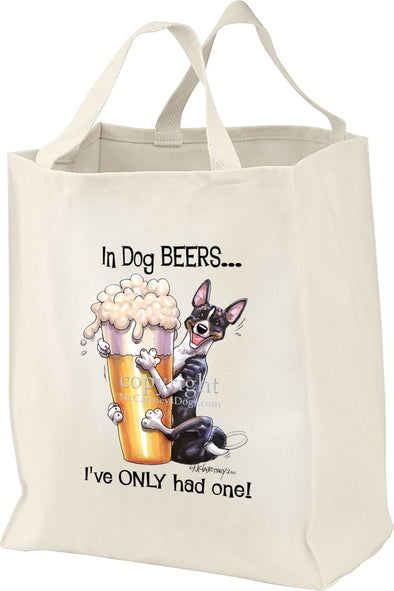 Basenji  Black Tri - Dog Beers - Tote Bag