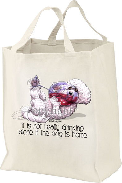Bichon Frise - It's Not Drinking Alone - Tote Bag