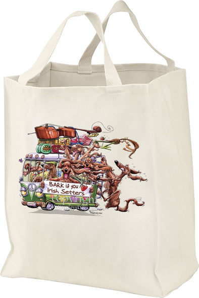 Irish Setter - Bark If You Love Dogs - Tote Bag