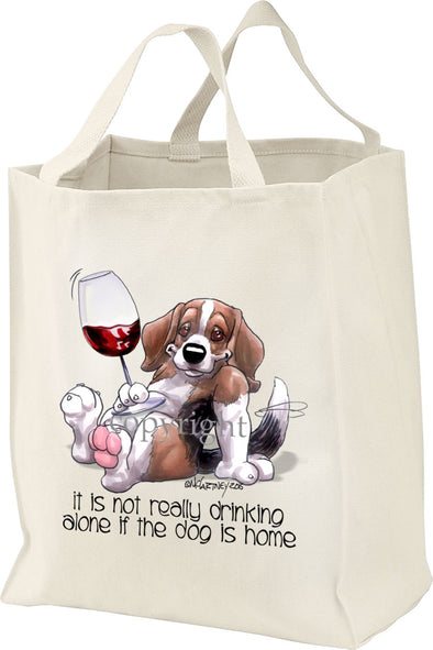 Beagle - It's Not Drinking Alone - Tote Bag