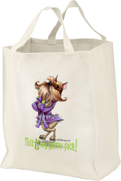 Brussels Griffon - Who's A Happy Dog - Tote Bag