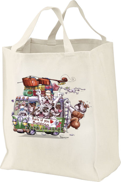 Bulldog - Bark If You Love Dogs - Tote Bag