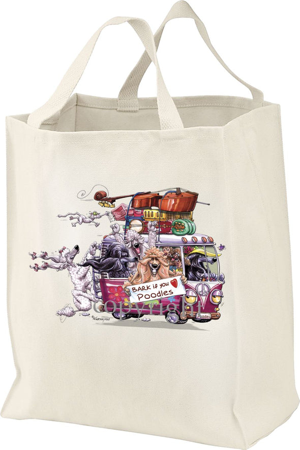 Poodle - Bark If You Love Dogs - Tote Bag