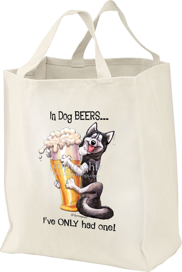 Siberian Husky - Dog Beers - Tote Bag