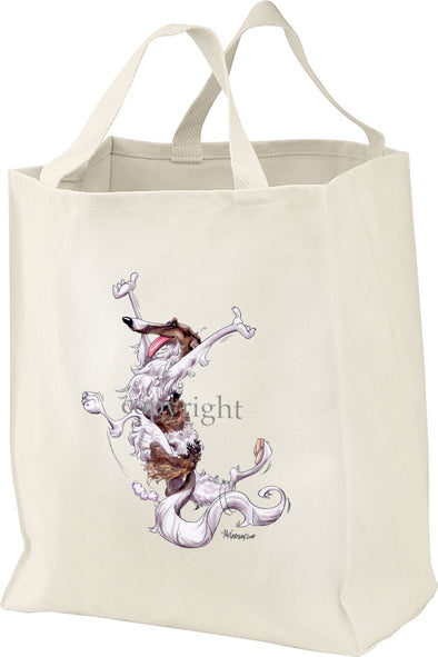 Borzoi - Happy Dog - Tote Bag