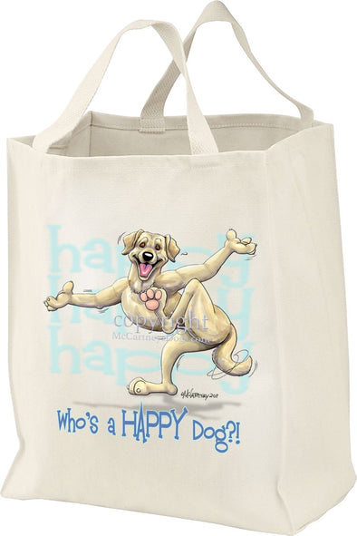 Labrador Retriever  Yellow - Who's A Happy Dog - Tote Bag