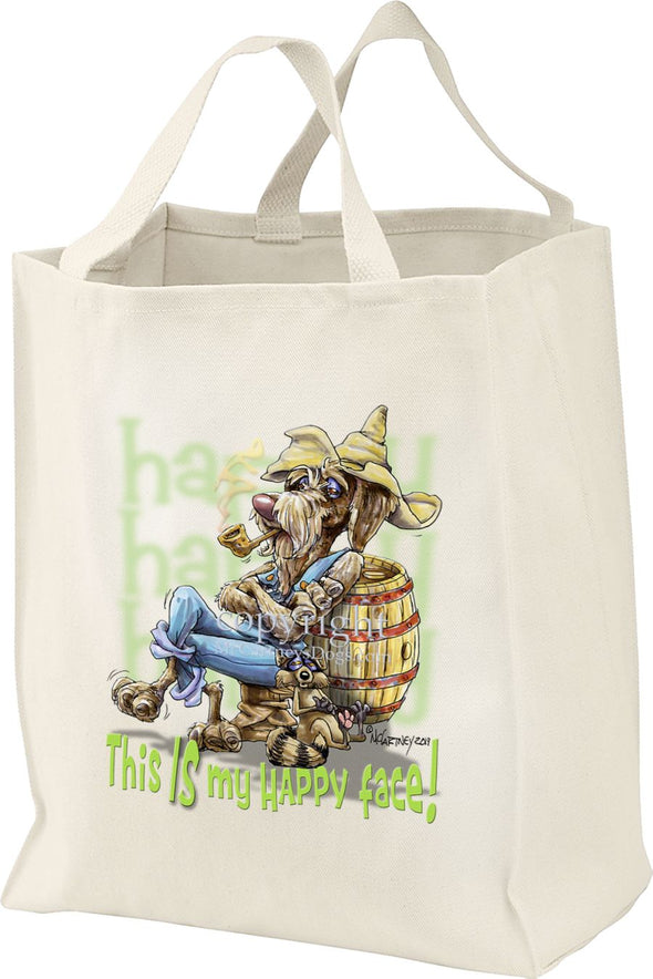 German Wirehaired Pointer - Who's A Happy Dog - Tote Bag