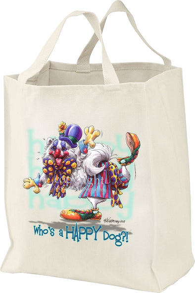 American Eskimo Dog - Who's A Happy Dog - Tote Bag