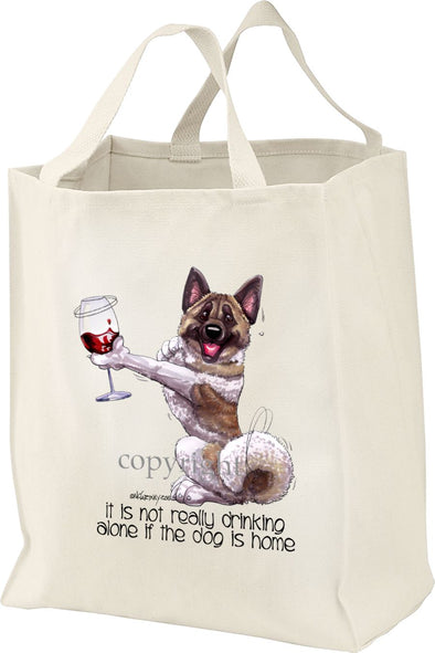 Akita - It's Not Drinking Alone - Tote Bag