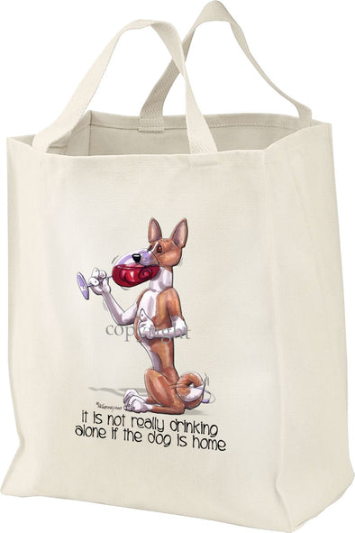 Basenji - It's Not Drinking Alone - Tote Bag