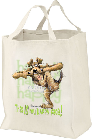 Airedale Terrier - 2 - Who's A Happy Dog - Tote Bag