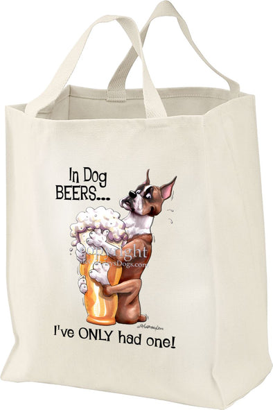 Boxer - Dog Beers - Tote Bag
