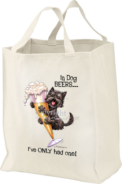 Cairn Terrier - Dog Beers - Tote Bag