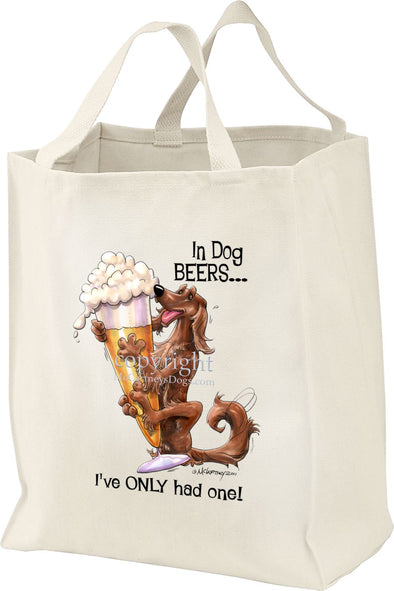 Irish Setter - Dog Beers - Tote Bag