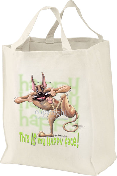 Great Dane - 2 - Who's A Happy Dog - Tote Bag