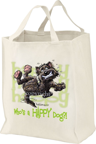 Cairn Terrier - Who's A Happy Dog - Tote Bag