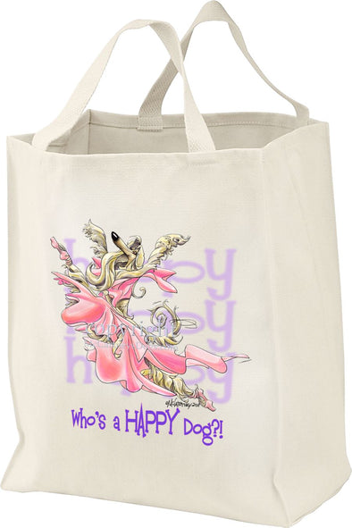 Afghan Hound - Who's A Happy Dog - Tote Bag