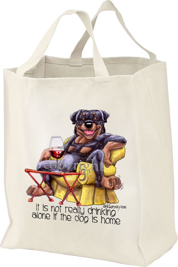 Rottweiler - It's Not Drinking Alone - Tote Bag