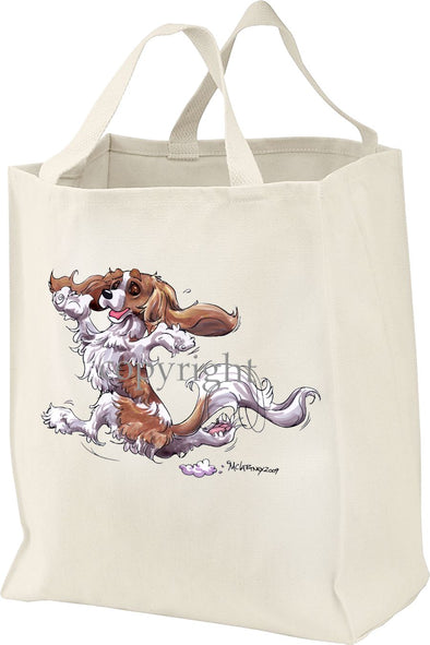 Cavalier King Charles  Blenheim - Happy Dog - Tote Bag