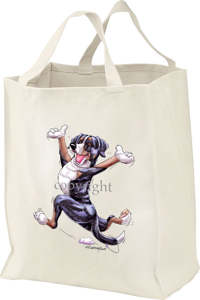 Greater Swiss Mountain Dog - Happy Dog - Tote Bag