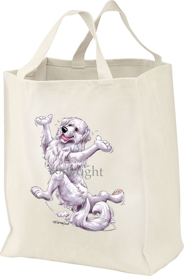 Great Pyrenees - Happy Dog - Tote Bag