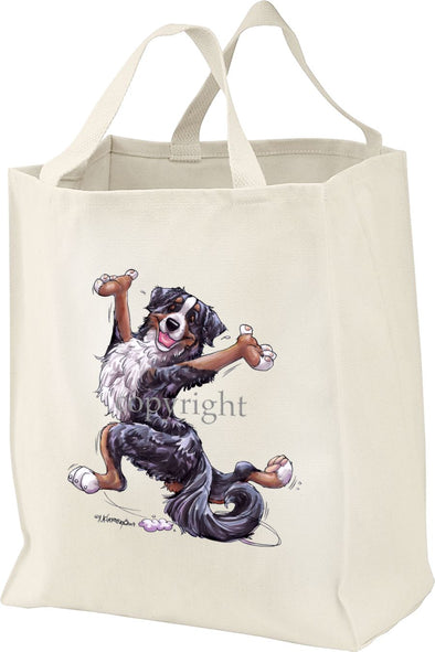 Bernese Mountain Dog - Happy Dog - Tote Bag
