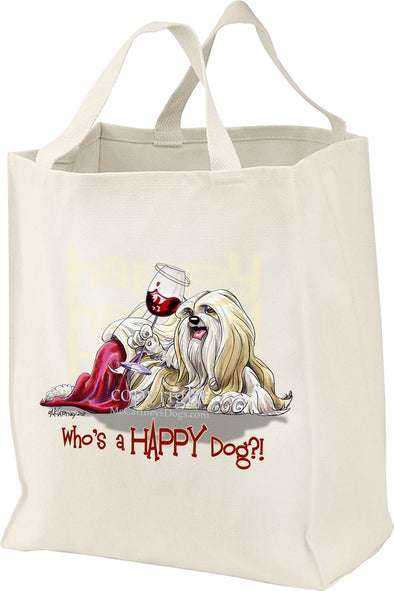 Lhasa Apso - Who's A Happy Dog - Tote Bag