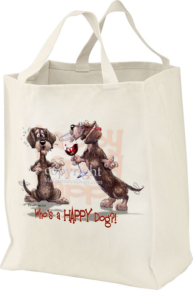 Dachshund  Wirehaired - Who's A Happy Dog - Tote Bag