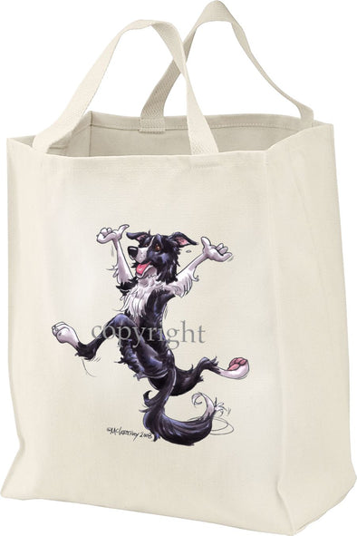 Border Collie - Happy Dog - Tote Bag