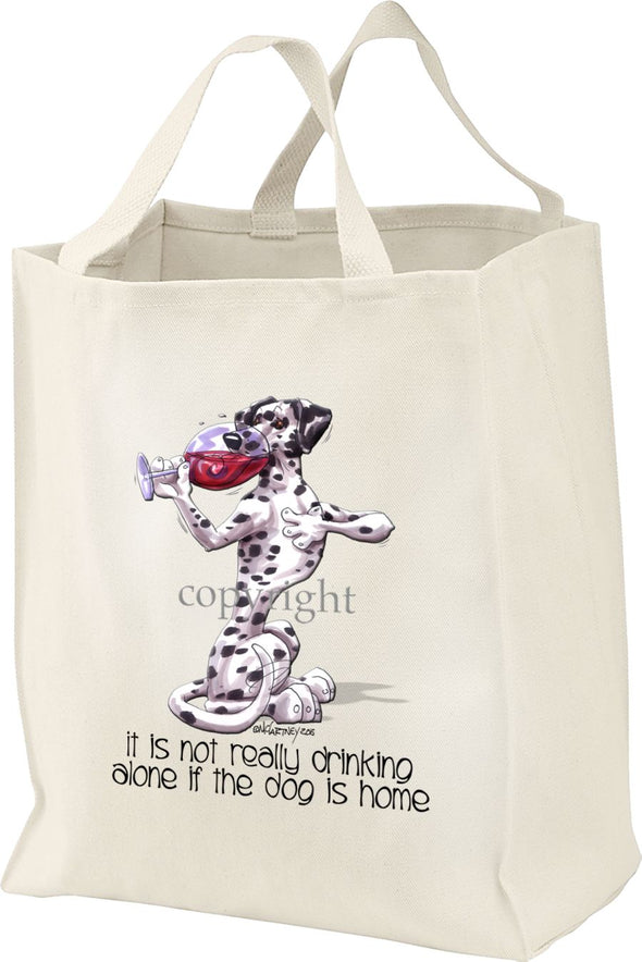 Dalmatian - It's Not Drinking Alone - Tote Bag