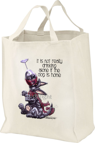 Scottish Terrier - It's Not Drinking Alone - Tote Bag