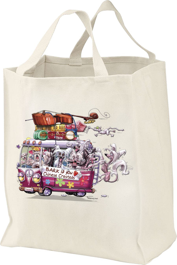 Chinese Crested - Bark If You Love Dogs - Tote Bag